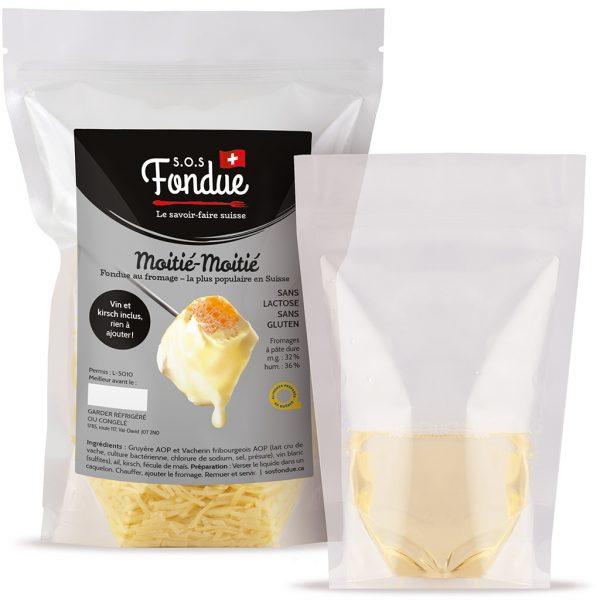 Fondue au fromage SOS Fondue - Moitié-Moitié - Liquide inclus