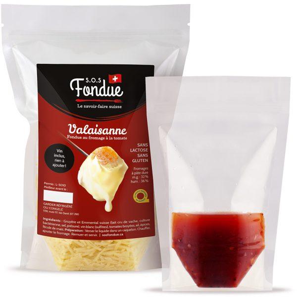Fondue au fromage SOS Fondue - Valaisanne - Liquide inclus
