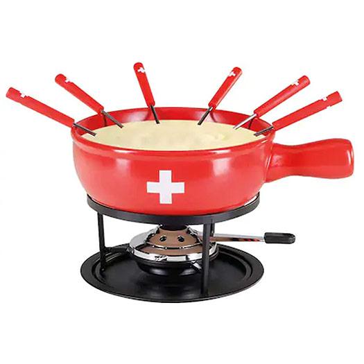 Ensemble à fondue Croix Suisse